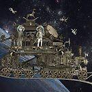 Space Cat Train by felissimha