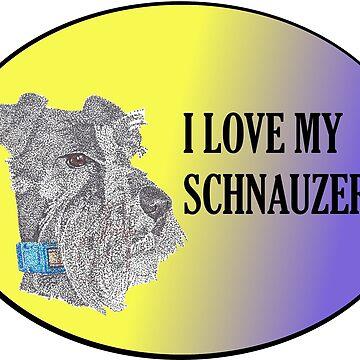 Love My Schnauzer by Yenrab