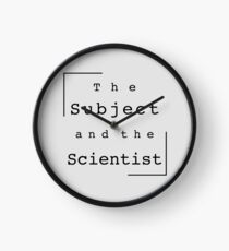 The Subject and the Scientist (Title Design) Clock