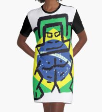 Brazil - World Cup Graphic T-Shirt Dress