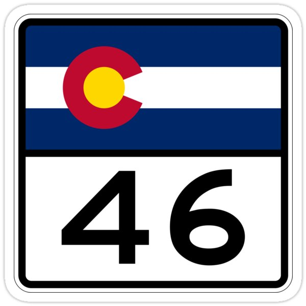 Colorado State Highway SH 46 | United States Highway Shield Sign
