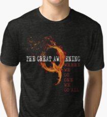QAnon Storm The Great Awakening WWG1WGA by Scralandore Tri-blend T-Shirt
