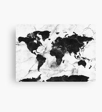 world map marble Canvas Print