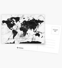 world map marble Postcards