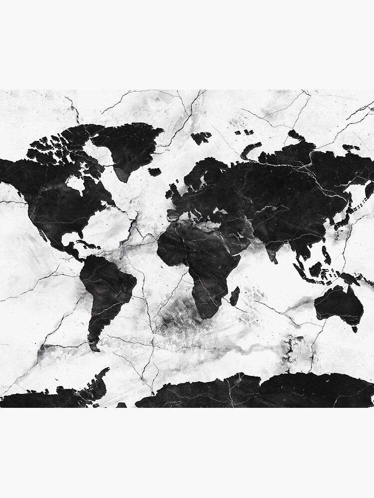 mapamundi de mármol de BekimART
