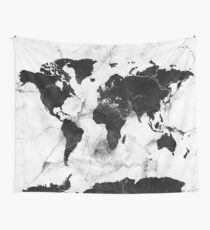 world map marble Tapestry