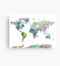 world map mandala 6 Metal Print