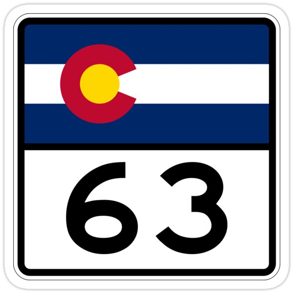Colorado State Highway SH 63 | United States Highway Shield Sign