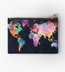 World Map watercolor 2 Zipper Pouch