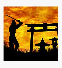 Ninja on the attack Photographic Print