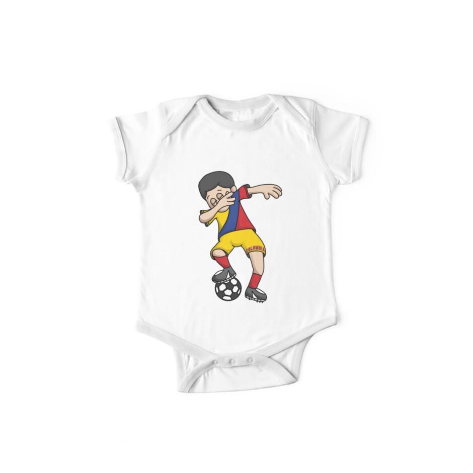 33eadd4ef Colombia Football Dabbing Soccer Boy With National Flag Jersey Futbol Fan  Shirt