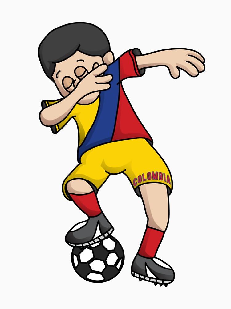 74f2d9bdda14e Colombia Football Dabbing Soccer Boy With National Flag Jersey Futbol Fan  Shirt | Women's Premium T-Shirt