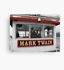 The Mark Twain River Boat Canvas Print