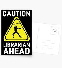 Caution Librarian Ahead Postcards