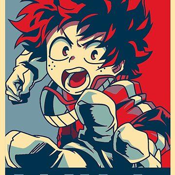"My Hero Academia Deku ""Hope"" poster by SenxCreations"