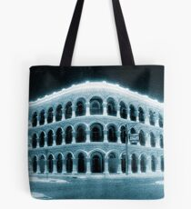 blue day...white building Tote Bag