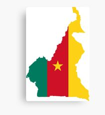 Flag Map of Cameroon  Canvas Print