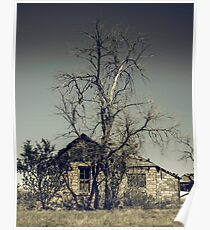Lonely Farmhouse off Route 66 Poster