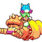 Asha (Monster World IV) - SEGA Genesis Sprite by Lupianwolf