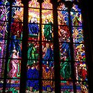 Prague - Stained Glass Window by chijude