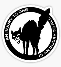 AN Injury To One Is An Injury To All - Anarcho-Syndicalist Logo Sticker