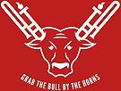 Grab The Bull By The Horns (White) by Christopher Bill