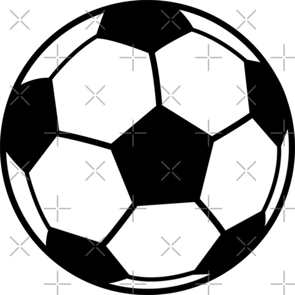 Eine Einfache Fussball Oder Fussball Grafik Von Diana Beato