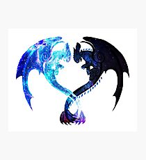 Dragon Heart (Toothless and Light Fury) Photographic Print