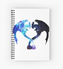 Dragon Heart (Toothless and Light Fury) Spiral Notebook