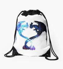 Dragon Heart (Toothless and Light Fury) Drawstring Bag