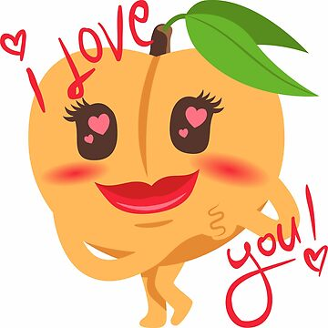 I Love You Peach Emoji by joypixels