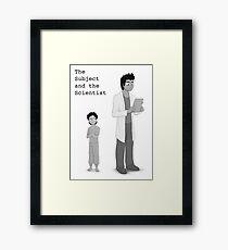 """""""She is a failed experiment"""" Framed Print"""