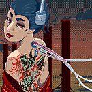 Pixelart Yakuza Japanese woman by ButtercupSaiyan