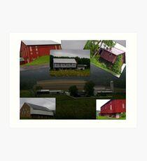 BARNS BARNS and more barns.... Art Print