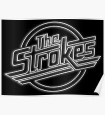 The Strokes Logo in Neon Poster
