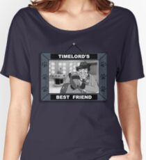 Timelord's Best Friend (Black & White) Women's Relaxed Fit T-Shirt