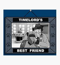 Timelord's Best Friend (Black & White) Photographic Print