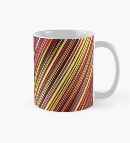 Color and Form Abstract - Striped Line Rain of Reds and Yellows Mug