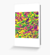 Bright Color Urban Camouflage Greeting Card