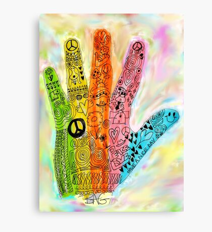 The Hand of Peace Canvas Print