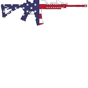 American Flag Red White And Blue Ar15 Rifle by nojoketyler