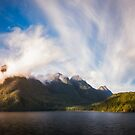 Glorious Light early in the Morning on Lake Manapouri by Danielasphotos