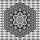 Flower of Life Black White 7 by Cveta