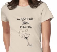 Tonight's Vow - Black Print Womens Fitted T-Shirt