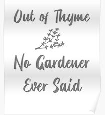 Out of Thyme Poster