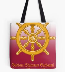 Buddha's Dharma Chakra, India Tote Bag