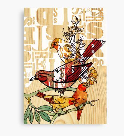 letterpress birds Canvas Print