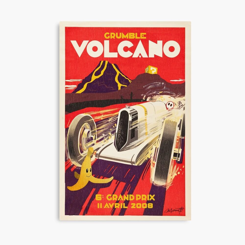 Grummel Volcano Grand Prix Leinwanddruck