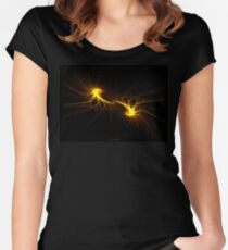 """Twin Flames""  - Fractal Art Women's Fitted Scoop T-Shirt"