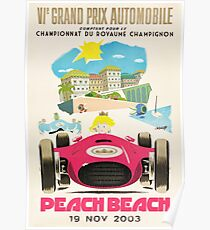 Pfirsichstrand Grand Prix Poster